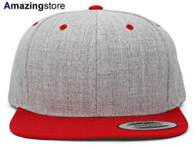 ユーポン フレックスフィット 【PREMIUM CLASSIC 2-TONE BLANK SNAPBACK/HEATHER GREY-RED】 YUPOONG FLEXFIT [for3000 18_4_3FLX 18_4_4]