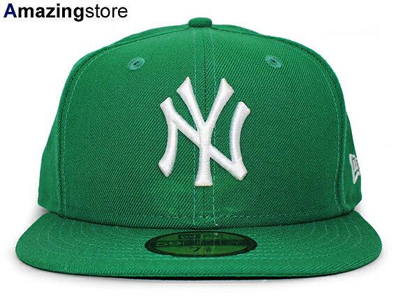 NEW ERA NEW YORK YANKEES 【TEAM-BASIC/KELLY GREEN-WHITE】 ニューエラ ニューヨーク ヤンキース 59FIFTY フィッテッド キャップ FITTED CAP グリーン×ホワイト 11308552 [帽子 MLB nenyy1198]