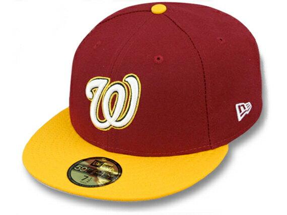 NEW ERA WASHINGTON NATIONALS 【OPPOSITE 2T TEAM-BASIC/BUR-GOLD】 ニューエラ ワシントン ナショナルズ 59FIFTY FITTED CAP フィッテッド キャップ MLB バーガンディ BURGUNDY ゴールド [帽子 new era cap ニューエラキャップ 大きい サイズ 17_1_5 17_2_1]