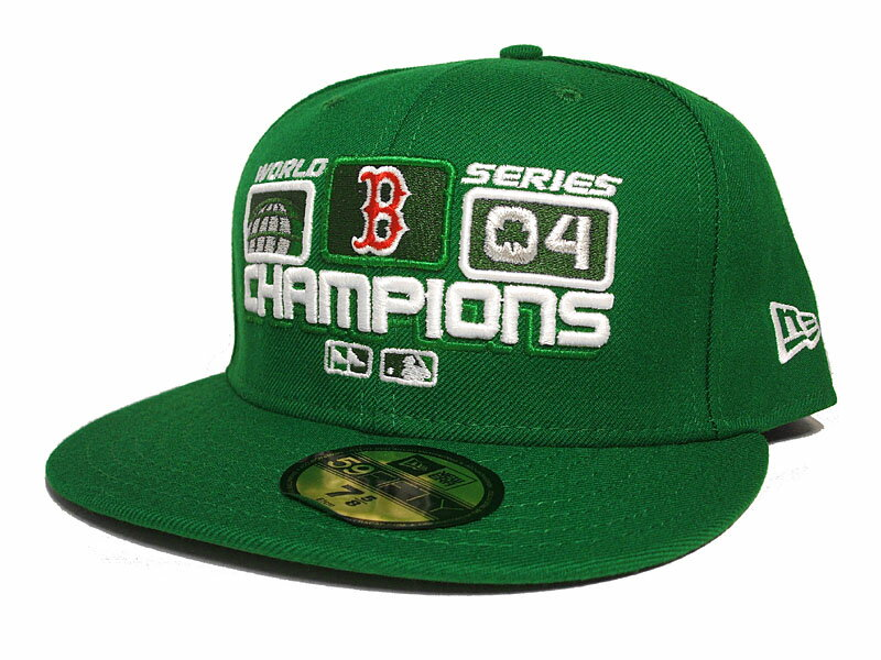 NEW ERA BOSTON RED SOX 【MLB 2004 WORLD SERIES CHAMPS ST PATS/GRN】 ニューエラ ボストン レッドソックス 59FIFTY FITTED CAP [17_10_2 17_10_3 17_10RE]