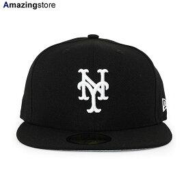 【あす楽対応】ニューエラ 59FIFTY ニューヨーク メッツ 【MLB TEAM-BASIC FITTED CAP/BLACK-WHITE】 NEW ERA NEW YORK METS [/BLK BIG_SIZE 20_3_4NE 20_4_1]