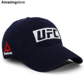 リーボック UFC ストラップバック 【BOX LOGO ADJUSTABLE SLOUCH STRAPBACK/NAVY】 REEBOK [19_7_5UFC 19_8_2]