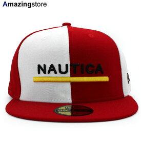 NEW ERA 59FIFTY ノーティカ 【COLOR BLOCK FITTED CAP/RED-WHT】 ニューエラ NAUTICA [19_5_4NAU 19_5_5]