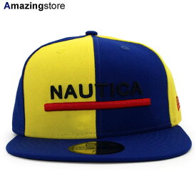 NEW ERA 59FIFTY ノーティカ 【COLOR BLOCK FITTED CAP/RYL BLUE-GOLD】 ニューエラ NAUTICA [19_5_4NAU 19_5_5]