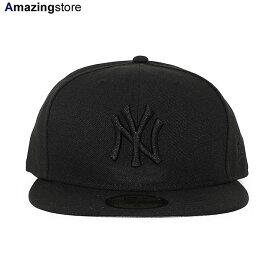 【あす楽対応】ニューエラ 59FIFTY ニューヨーク ヤンキース 【MLB TEAM-BASIC FITTED CAP/BLACKOUT】 NEW ERA NEW YORK YANKEES ブラック [/BLK 20_10RE BIG_SIZE]