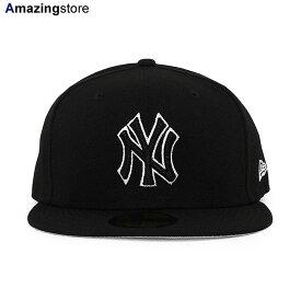 【あす楽対応】ニューエラ 59FIFTY ニューヨーク ヤンキース 【MLB TEAM-BASIC FITTED CAP/BLACK-BLACK】 NEW ERA NEW YORK YANKEES ブラック [/BLK BIG_SIZE 20_10_3NE 20_10_4]