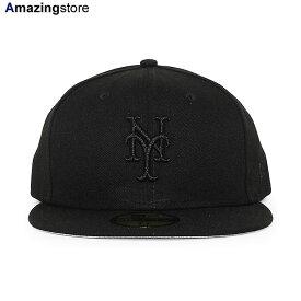 【あす楽対応】ニューエラ 59FIFTY ニューヨーク メッツ 【MLB TEAM-BASIC FITTED CAP/BLACKOUT】 NEW ERA NEW YORK METS ブラック [/BLK BIG_SIZE 20_10_3NE 20_10_4]