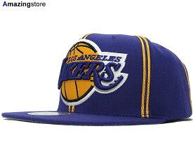 MITCHELL NESS LOS ANGELS LAKERS  XL-LOGO SOUTACHE SNAPBACK PUR  ミッチェル&ネス  ロサンゼルス レイカーズ スナップバック  帽子 ヘッドギア new era cap ... fe32f99cec65