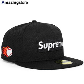 【あす楽対応】SUPREME ニューエラ 59FIFTY 【MESH BOX LOGO FITTED CAP/BLK】 シュプリーム NEW ERA [19_10RE]