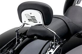 【15060033】 バックレストインサート FLAG 94年以降ツーリングモデルでハーレー純正デタッチャブル・パッセンジャーシーシーバーアップライト装着車に適合
