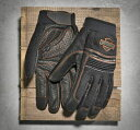 【グローブ】 Saddle Mesh & Leather Gloves ◆ハーレー◆
