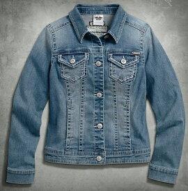 【99169-16vw】Patches & Pins Denim Jacket XS/S/M/L/XL◆ハーレー◆