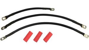 【21130663】 ブラック バッテリーケーブルキット:2004〜05年ダイナモデルに適合/