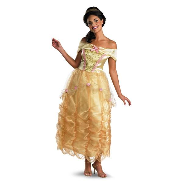 美女と野獣 ベル  衣装、コスチューム ドレス Deluxe ディズニー 大人女性用