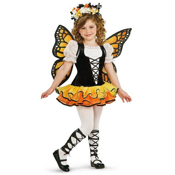 バタフライ 蝶々 衣装、コスチューム 子供女性用 コスプレ Monarch Butterfly