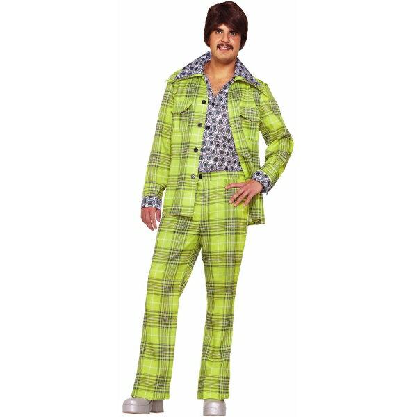 70年代 ディスコ スーツ 衣装、コスチューム 大人男性用 70s Plaid Leisure