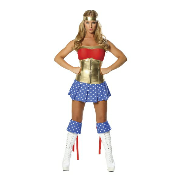 ワンダーウーマン風 スーパーヒロイン衣装、コスチューム 大人女性用 コスプレ セクシー