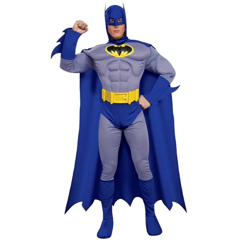 バットマン Brave & Bold デラックス 筋肉隆々プロテクター 衣装、コスチューム 大人用