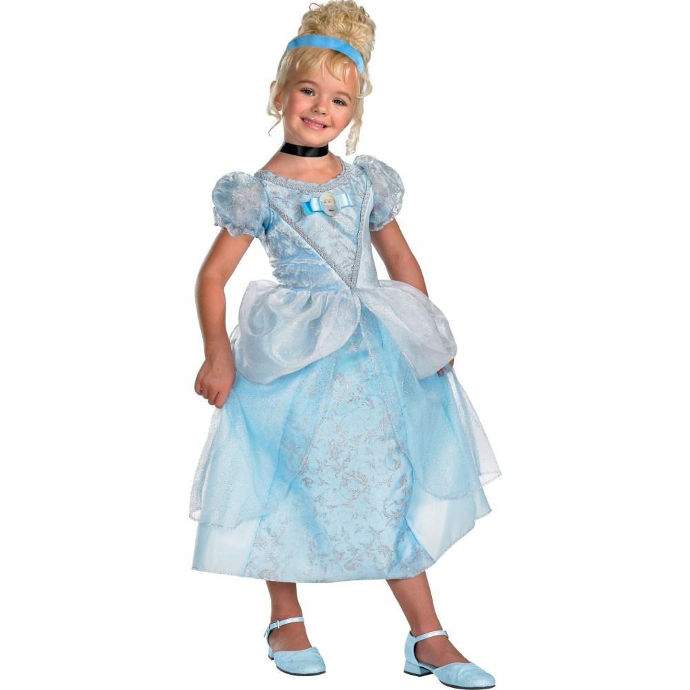 シンデレラ 衣装、コスチューム DLX 子供女性用 ドレス ディズニープリンセス