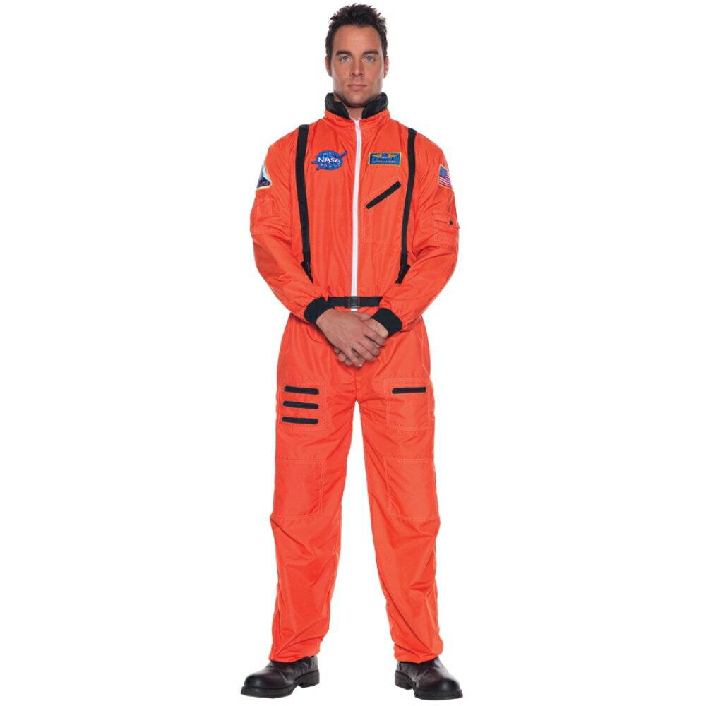 宇宙飛行士 オレンジ コスチューム、コスプレ衣装 大人男性用