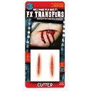 裂けた腕 傷口  リアルなメイクシール CUTTER ホラー 3D FX Transfers コスプレ