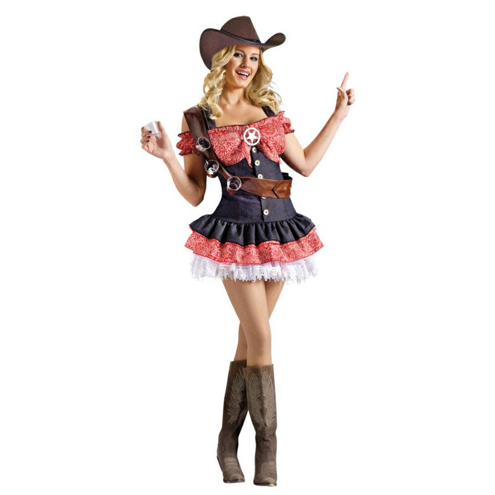ウエスタン カウガール 衣装、コスチューム 大人女性用 西部劇 SHOTGUN SHERIFF