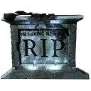 台座が付いた墓石 ローズの葉 大人男性用 小道具 56センチ ホラー