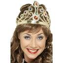 王冠 ゴールド 女王風 宝石 大人女性用 Jewelled Queen's Crown