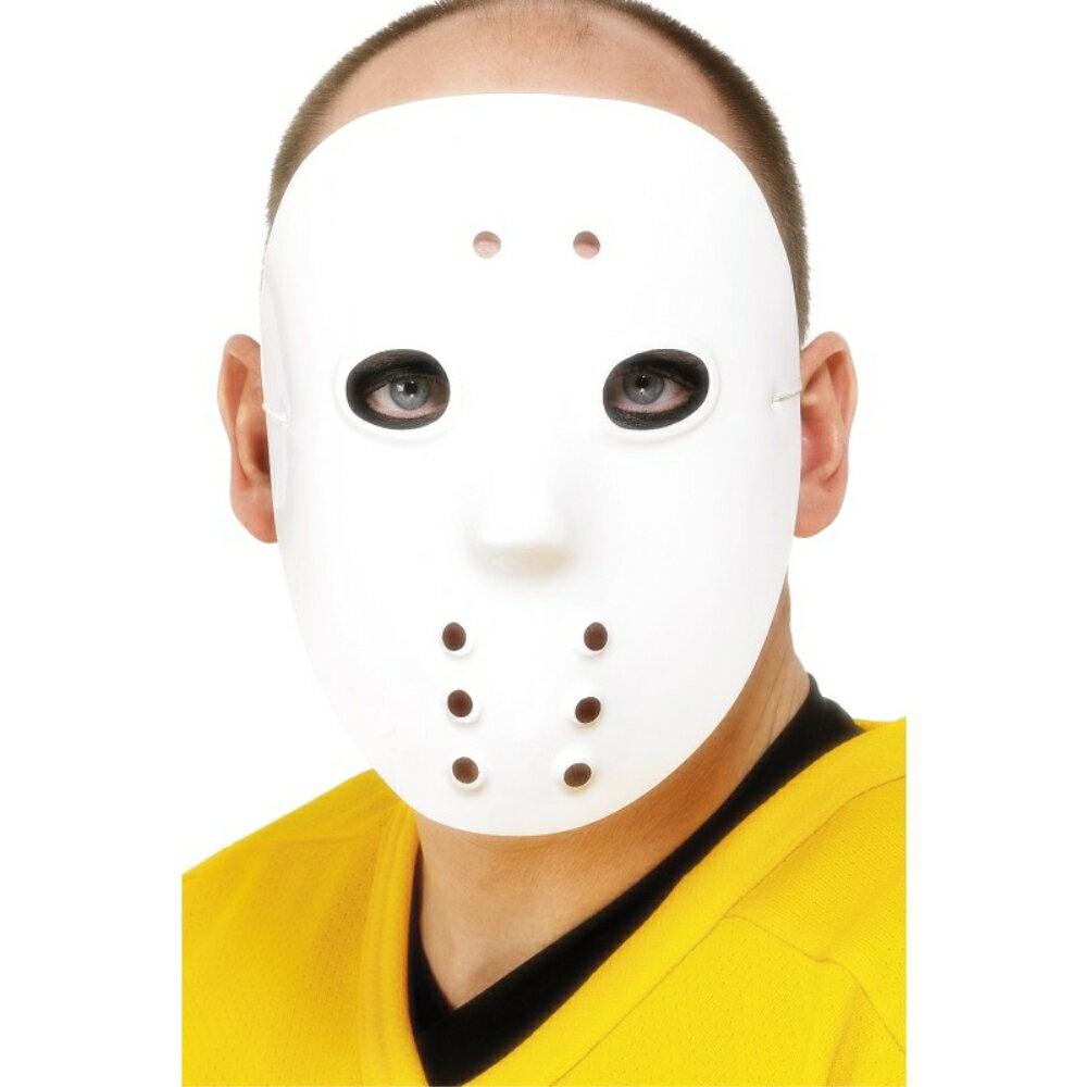 ホッケーマスク 白 アクセサリー お面 大人男性用 Hockey Mask
