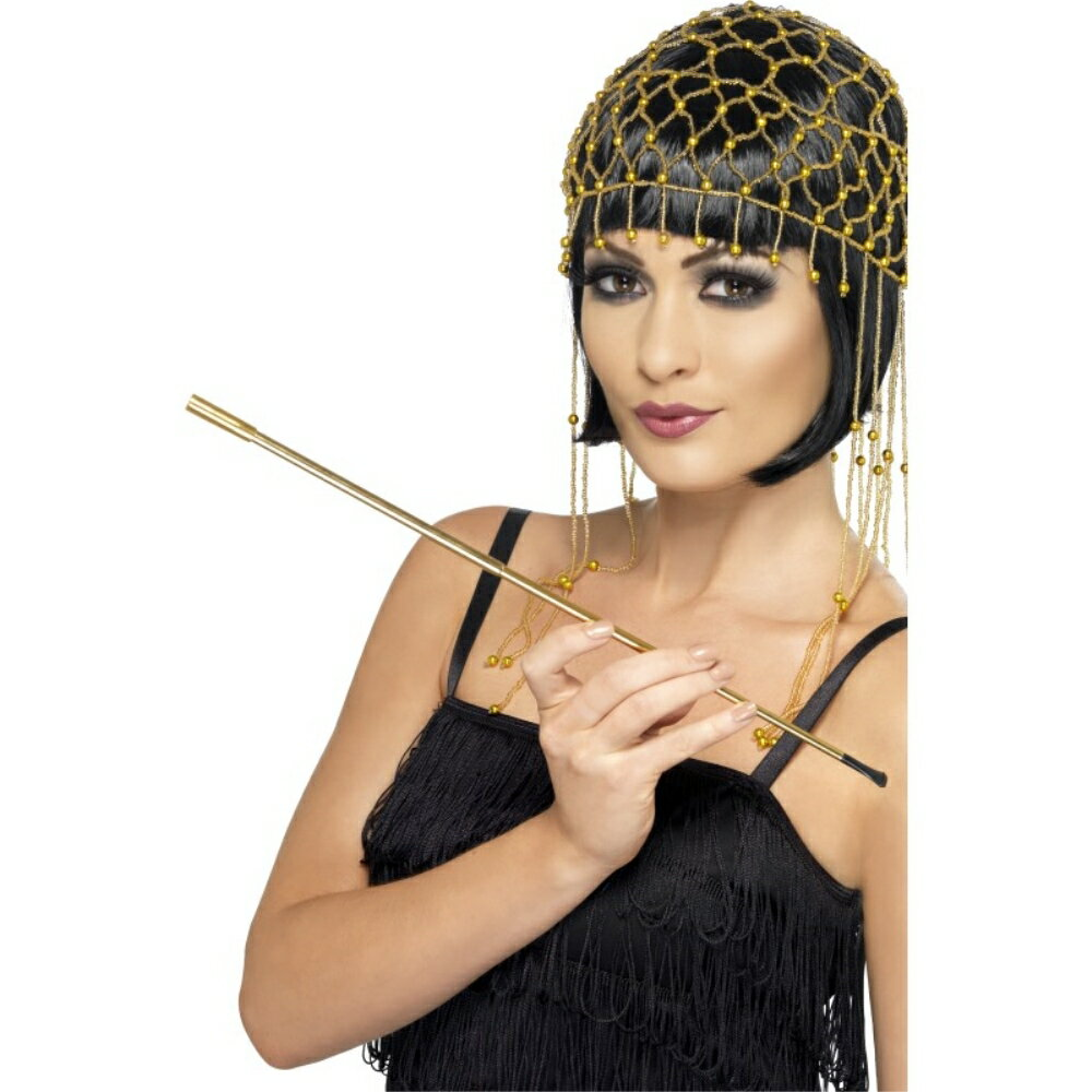 シガレットホルダー ゴールド フラッパー風 大人女性用 Cigarette Holder