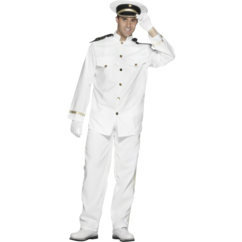 海軍 白 衣装、コスチューム 艦長 大人男性用 Captain