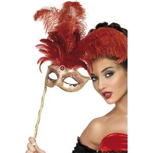 ベネチアンマスク 赤 パーティー フィーバー バロック ファンタジー 大人女性用 Fever Baroque Fantasy Eyemask コスプレ