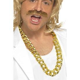 ネックレス ゴールド 1980年代風 アクセサリー 巨大チェーン大人男性用 Chunky Necklace コスプレ