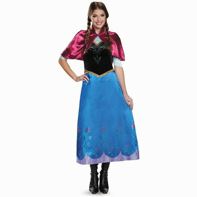 アナ アナと雪の女王 衣装、コスチューム 大人女性用 Deluxe