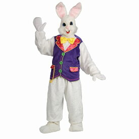 ウサギ 衣装、コスチューム 大人男性用 動物 着ぐるみ BUNNY ADULT DELUXE W VEST コスプレ