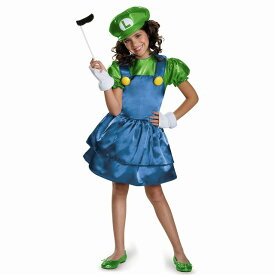 ルイージ 衣装、コスチューム 子供女性用 スーパーマリオ Super Mario Bros Skirt コスプレ