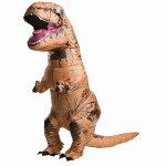 ティラノサウルス衣装、コスチューム大人男性用空気で膨らむ恐竜
