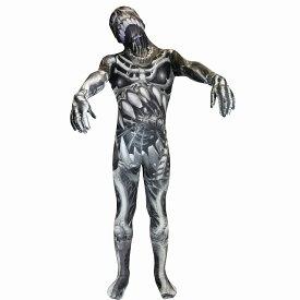 骸骨 衣装、コスチューム 大人男性用 ホラー 全身タイツ MORPH SKULL N BONES