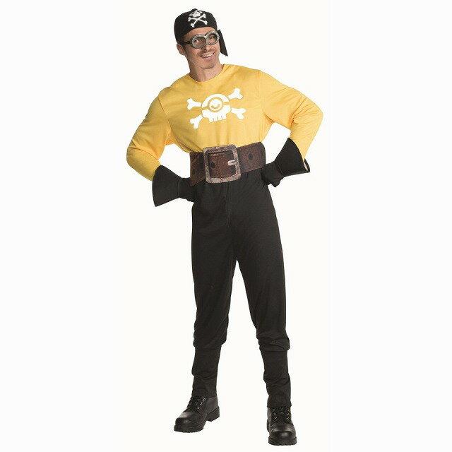 ミニオン 衣装、コスチューム 大人男性用 海賊風 映画 ミニオンズ 怪盗グルー Pirate Minion