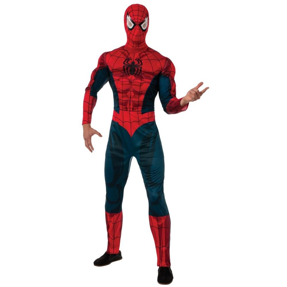 スパイダーマン コスチューム 大人男性用 Deluxe Spider-man