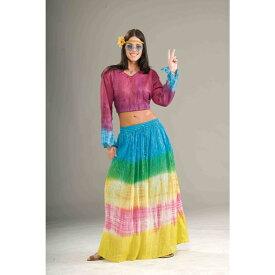 ヒッピー タイダイ柄ロングスカート コスチューム 大人女性用 Tye Dye Skirt