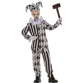 ピエロ 衣装、コスチューム 子供男性用 ハロウィン EVIL HARLEQUIN NO MASK CHILD コスプレ