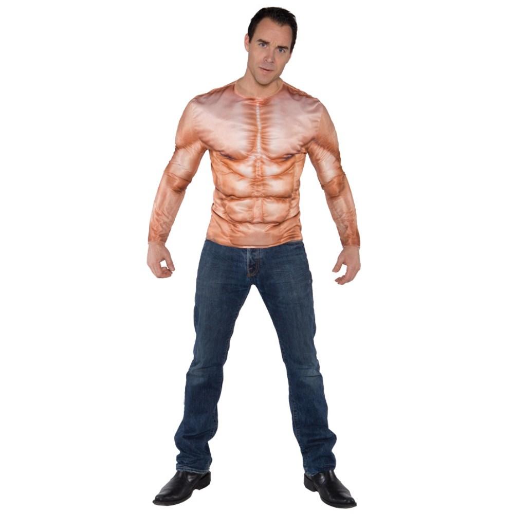 リアルプリントマッスル 衣装、コスチューム 大人男性用 筋肉