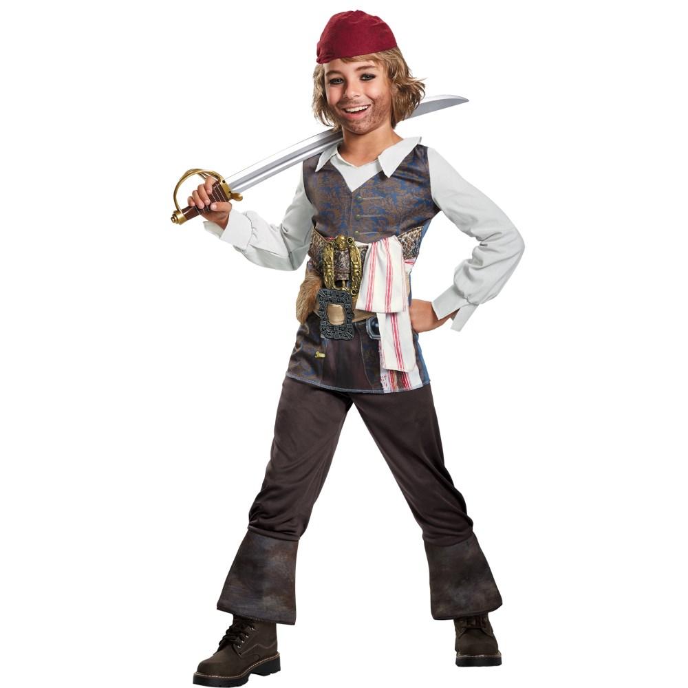 ジャックスパロウ パイレーツ・オブ・カリビアン 衣装、コスチューム 子供男性用 POTC 5 CAPT JACK CLASSIC
