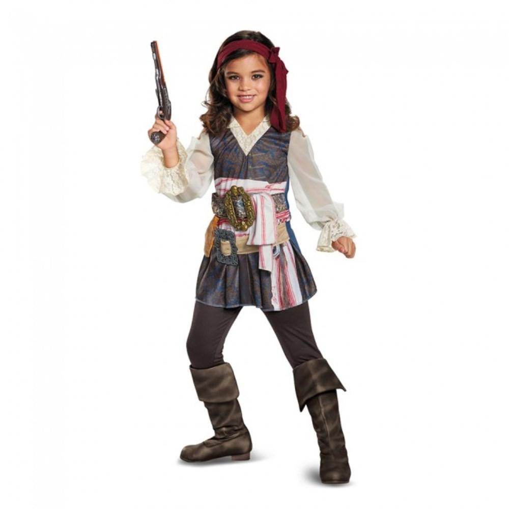キャプテン・ジャック・スパロウ ガール 衣装、コスチューム 子供女性用 「パイレーツ・オブ・カリビアン/最後の海賊」 Potc5 Captain Jack Girl Classic