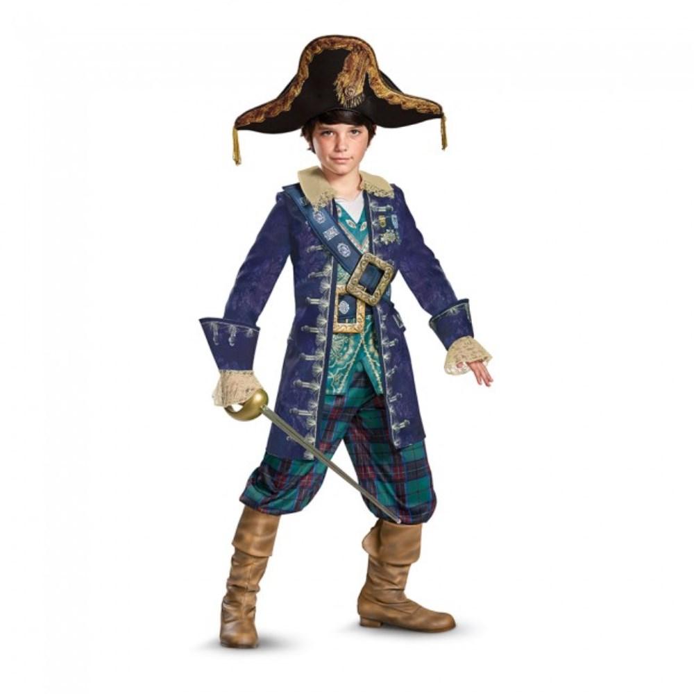 バルボッサ 「パイレーツ・オブ・カリビアン/最後の海賊」 衣装、コスチューム Deluxe 子供男性用  Potc5 Barbosa Deluxe