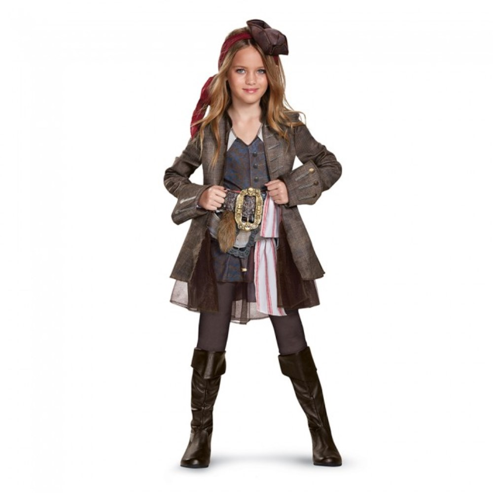 キャプテン・ジャック・スパロウ ガール Deluxe 衣装、コスチューム 子供女性用 「パイレーツ・オブ・カリビアン/最後の海賊」 Potc5 Captain Jack Girl Deluxe