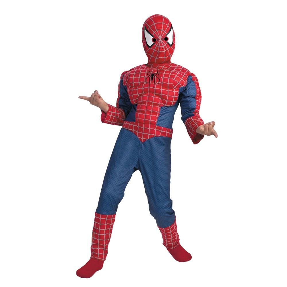 スパイダーマン アベンジャーズ 衣装、コスチューム 子供男性用 SPIDERMAN MUSCLE