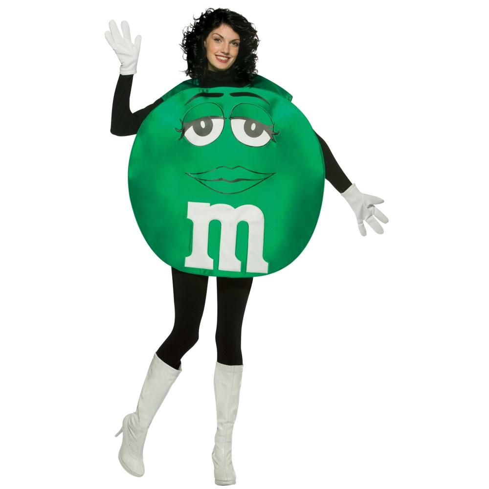 M&M'Sグリーンチョコポンチョ 衣装、コスチューム 大人女性用 M&M'S GREEN PONCHO ADULT