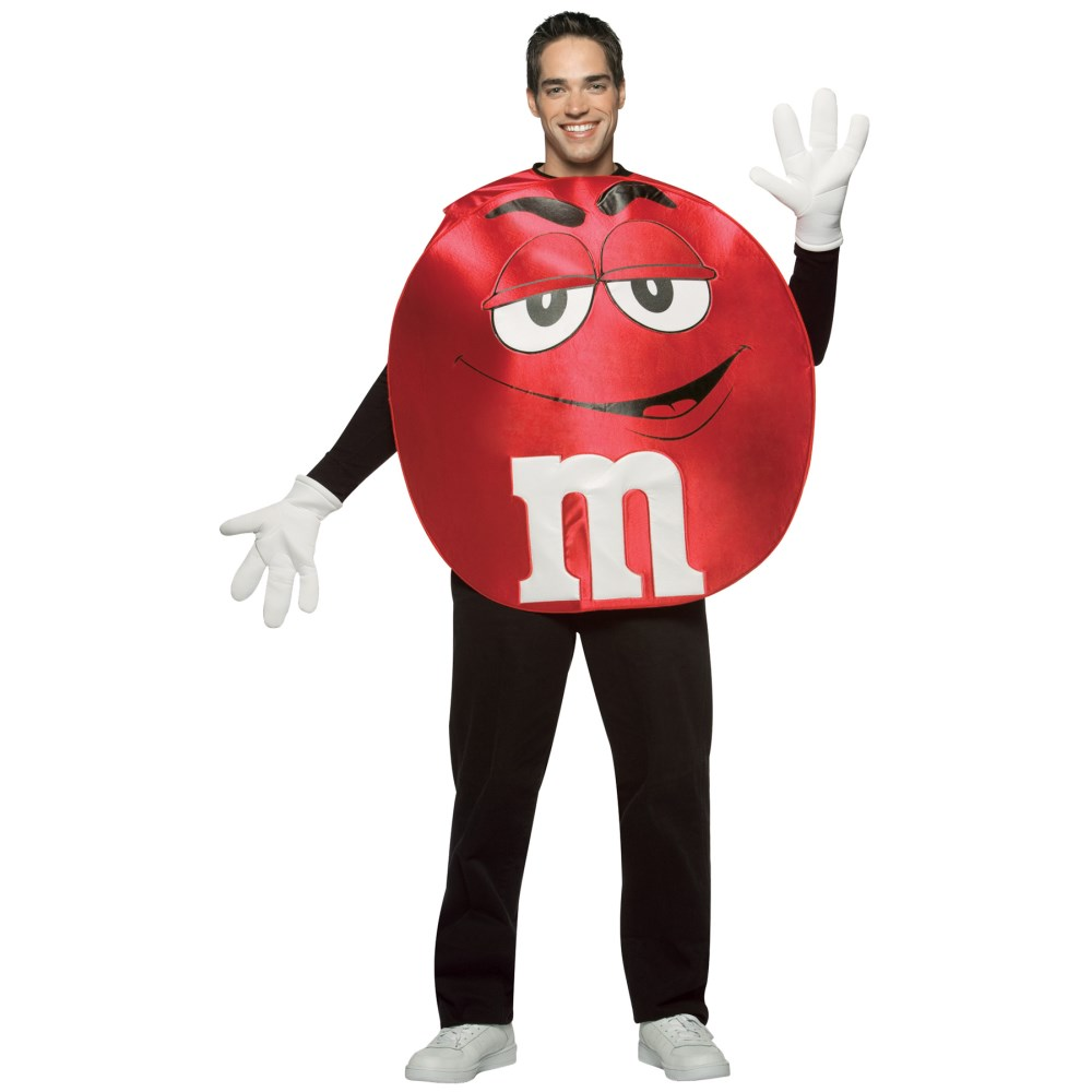M&M'Sレッドチョコポンチョ 衣装、コスチューム 大人男性用 M&M'S RED PONCHO ADULT